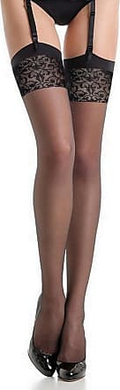 Fiore Black 20 Denier Womens Nylon Stockings. - Black - 2
