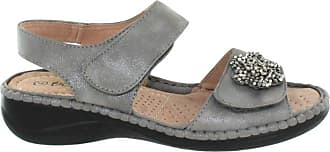 Boulevard Halter Twin Touch Fastening Summer Sling Back Padded Sandals - Pewter/Silver PU, Ladies UK 7 / EU 40
