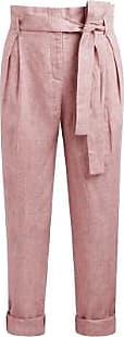 Zenggi Rose Delave Leinen Crop Pants - L