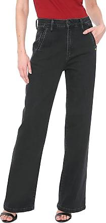 Zoomp Calça Jeans Zoomp Pantalona Aline Preta