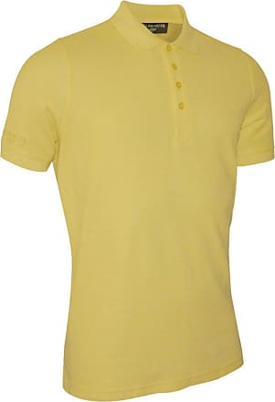Glenmuir Mens MSC7211 Classic Fit Cotton Pique Polo Shirt Light Yellow XL