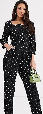 Y.A.S. Tall Arianna polka dot jumpsuit-Black