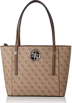 Guess open road luxury satchel borsa a mano da donna, marrone multicolore, taglia unica