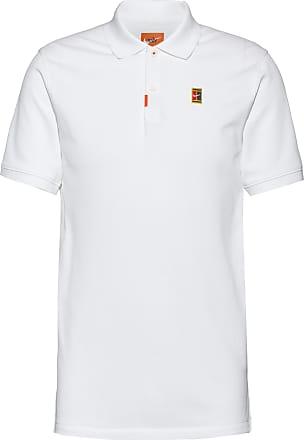 Nike HERITAGE SLIM Tennis Polo Herren in white, Größe XL