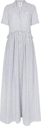 Rosie Assoulin Vestido longo listrado - Branco