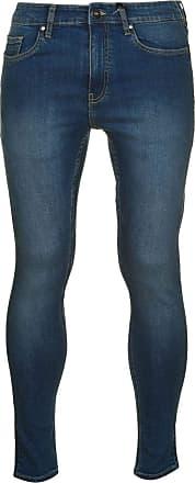 Firetrap Mens Super Skinny Jeans Pants Trousers Bottoms Zip Stretch Mid Wash 2 36 L30