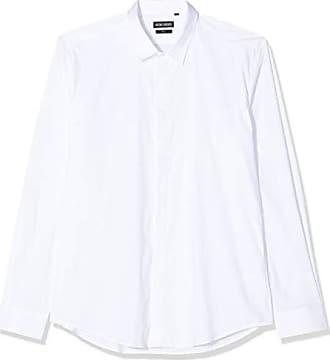 Antony Morato Basica con Abbottonatura Nascosta Elastica Camicia Casual Uomo
