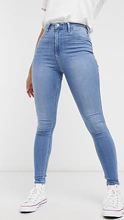 Hollister Hourglass skinny jeans in midwash blue