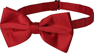 Jacob Alexander Mens Extra Large Pre Tied Bow Tie - Red