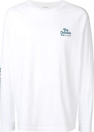 Wood Wood Camiseta com logo estampado - Branco