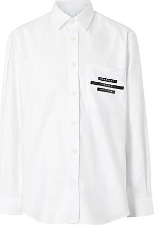 Burberry Camisa com estampa de logo - Branco