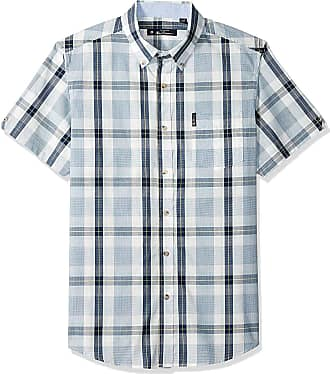Ben Sherman Mens Check Shirt Button Down Top Pocket (XX-Large)