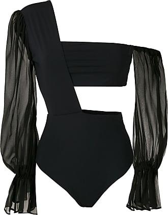 Amir Slama one shoulder bodysuit - Black