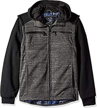 Urban Republic Mens Melange Jersey Jacket, Gray, S