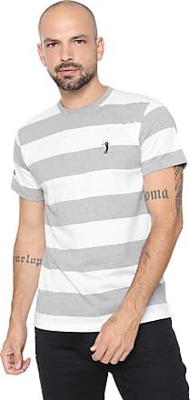 Aleatory Camiseta Aleatory Listrada Cinza/Branca