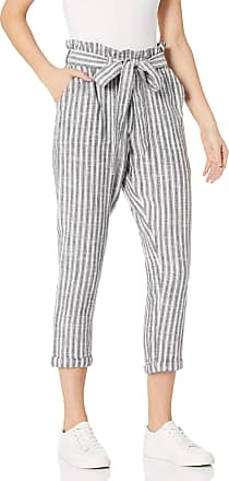 Rip Curl Womens SUNSETTERS Crop Pants Casual, Black/White, Large