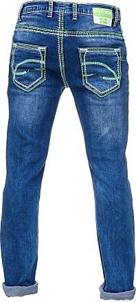 ae7eee2022bfa2 Rusty Neal Rusty Neal Jeans mit farblich abgesetzten Nähten