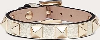 Valentino Garavani Valentino Garavani Rockstud Leather Bracelet Women Sahara Calfskin 100% OneSize