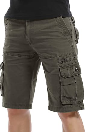 Yidarton Mens Cargo Shorts Lightweight Casual Summer Work Shorts Multi Pocket Combat Shorts Half Pants (Without Belt)