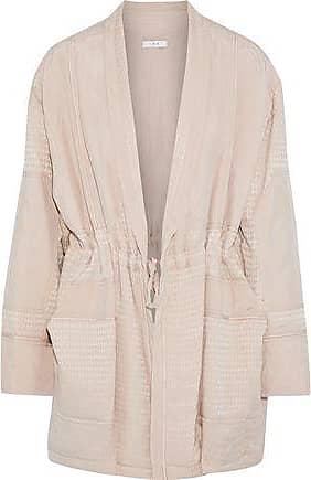 Iro Iro Woman Paneled Houndstooth Jacquard Jacket Pastel Pink Size 36