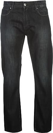 Firetrap Mens Tokyo Jeans Trousers Pants Bottoms Denims Black wash 36W L