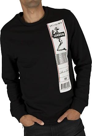 Religion Mens Patch Sweatshirt, Black, S