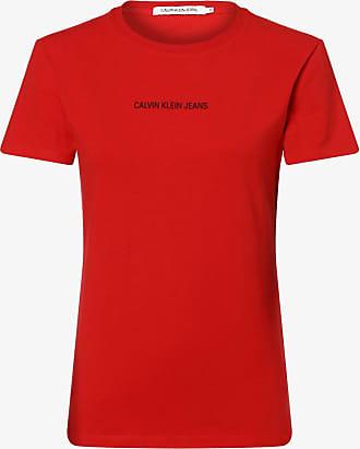 Calvin Klein Jeans Damen T-Shirt rot