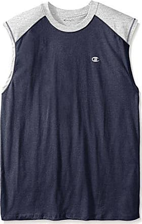 2ad5d2a5 Champion Mens Big-Tall Color-Block Jersey Muscle Shirt, Navy/Oxford,