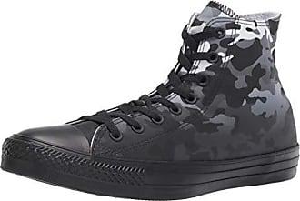 Converse Mens Unisex Chuck Taylor All Star Camo High Top Sneaker, White Black, 5.5 M US