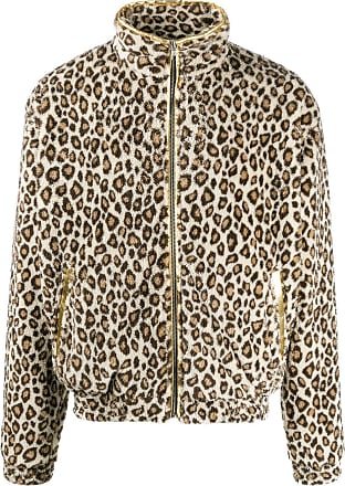 Noon Goons leopard print fleece bomber jacket - Neutro