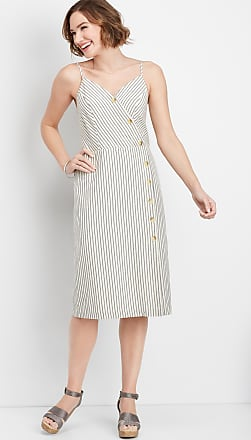Maurices Stripe Button Front Wrap Dress