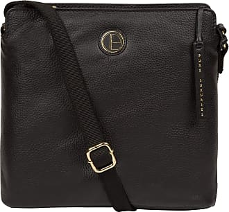 Pure Luxuries London Pure Luxuries London Holly Womens 24cm Biodegradable Leather Cross Body Bag with Zip Over Top, Natural, Untreated 100% Cotton Lining and Adjustable We