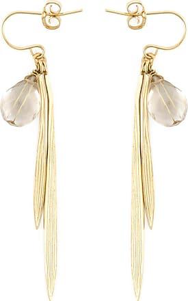 Wouters & Hendrix Bamboo rutilated quartz earrings - Metallic