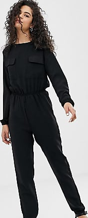 Noisy May utility pocket jumpsuit-Black