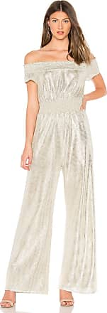 Line & Dot Liza Jumpsuit in Metallic Silver