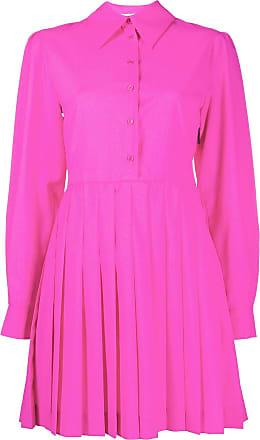 Msgm pleated panel shirt dress - PINK