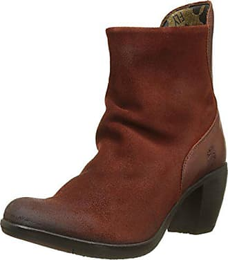 FLY London Womens HOTA125FLY Ankle Boot, Brick Oil Suede/Rug, 41 M EU (10-10.5 US)