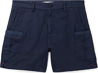 Orlebar Brown Bulldog Stretch Linen And Cotton-blend Twill Cargo Shorts - Navy