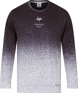 Hype Hype Speckle Fade Crew Neck Sweatshirt Black/White - L (42-44in)