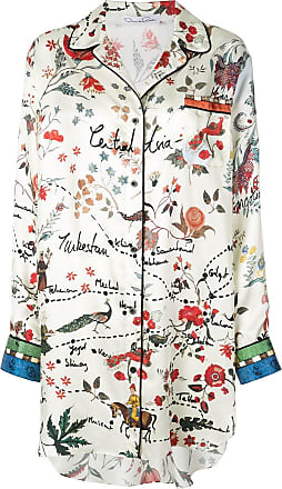 Oscar De La Renta printed shirt dress - White
