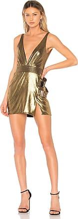 Zhivago Do or Die Mini Dress in Metallic Gold