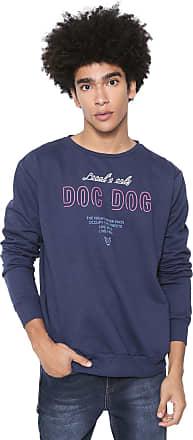 Doc Dog Moletom Flanelado Fechado Doc Dog Lettering Azul-marinho