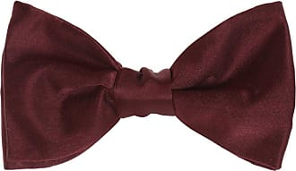 Lanvin Silk Bow Tie Mens Burgundy