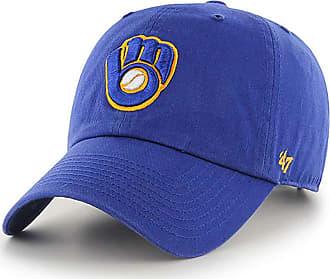 47 Brand 47 MLB Alternate Clean Up Adjustable Hat, Adult (Milwaukee Brewers Blue)