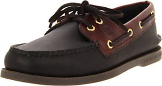 Sperry Top-Sider Sperry Mens Authentic Original 2 Eye Boat Shoe,Black/Amaretto,10.5 M