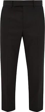 Haider Ackermann Miles Slim-leg Wool-crepe Trousers - Mens - Black