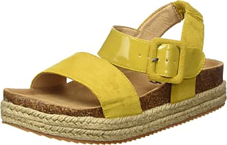 Refresh Womens 69647 Open Toe Sandals, Yellow (Panama Panama), 4.5 UK