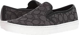 Coach C115 (Black Smoke/Black Signature C) Womens Slip on Shoes