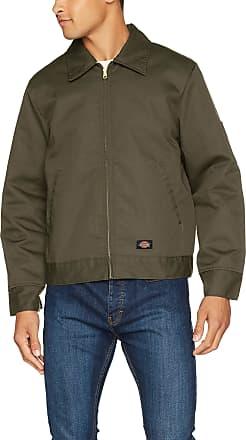 Dickies Mens Lined Eisenhower Jacket, Moss, XX-Large