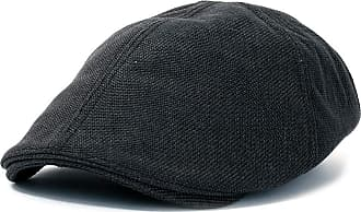 Ililily Linen-Like Flat Cap Cabbie Hat Gatsby Ivy Irish Hunting Stretch Newsboy (XL, Black)